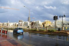 7 November - Day of the cyclone mediterranean in Malta Royalty Free Stock Photo