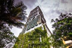 15 november, 2014: De lange bouw in het centrum van Mumbai, Indi Royalty-vrije Stock Afbeelding