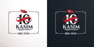 November 10 death day Mustafa Kemal Ataturk. Vector illustration. commemorative date November 10 death day Mustafa Kemal Ataturk , first president of Turkish Stock Image