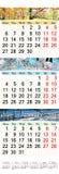 November December 2017 en Januari 2018 met gekleurde beelden in vorm van kalender Royalty-vrije Stock Foto