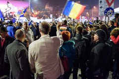November 2015 demonstrations in Romania Stock Photos