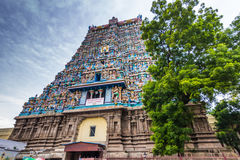 13. November 2014: Der hindische Tempel Meenakshi Amman in Madurai, Stockbild