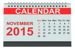 November 2015 desk calendar Royalty Free Stock Image