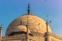 2. November 2014: Detail des Dachs Taj Mahals in Agra, Stockfotos