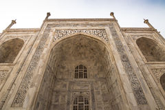 02 november, 2014: Detail van de muur van Taj Mahal in Agra, Stock Afbeelding