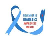 Free November Diabetes Awareness Month. Vector Illustration Royalty Free Stock Image - 199124646