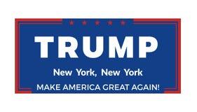 November 14, 2016. Donald Trump political banner. Vector illustration Stock Photos