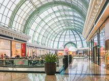Mall of Emirates. November 2, 2016 - Dubai UAE: The Mall of Emirates is the largest shopping mall in the world. The Dubai Mall is within an enormous affair in Royalty Free Stock Photos