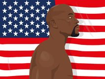 Martial arts topic. November 19.2017. Editorial illustration of Floyd Mayweather Jr. who is an american former professional boxer and currently boxing promoter royalty free illustration