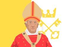 Pope Francis illustration Royalty Free Stock Image