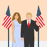 USA first lady. stock illustration