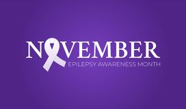 November Epilepsy Awareness Month Background Illustration