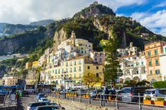 Amalfi town, Campania coast, Italy stock photos