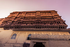 5. November 2014: Fassade des Mehrangarh-Forts in Jodhpur, Ind Stockbild