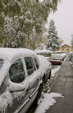 November, fisrt snow in Bavaria Royalty Free Stock Photo