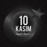 November 10, The founder of the Republic of Turkey M. K. Ataturk`s death anniversary. English: November 10, 1881-1938. Turkish Fla. G, portrait and Mausoleum of royalty free illustration