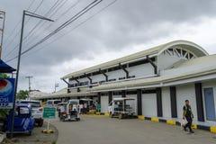 November 16,2017 framdel av den Boracay flygplatspassagerarterminalen Royaltyfria Bilder