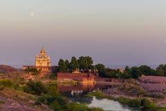 05 november, 2014: Het mausoleum van Jaswantthada in Jodhpur, India Royalty-vrije Stock Afbeeldingen