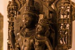 04 november, 2014: Hindoes beeldhouwwerk binnen het Albert Hall-museum Stock Afbeelding