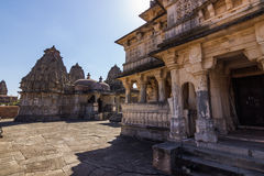 08 november, 2014: Hindoese tempel in Kumbhalgarh-Fort, India Stock Foto's