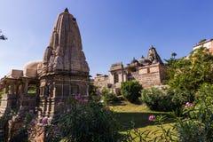 November 08, 2014: Hinduisk tempel i det Kumbhalgarh fortet, Indien Royaltyfri Foto