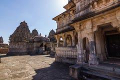 November 08, 2014: Hinduisk tempel i det Kumbhalgarh fortet, Indien Arkivfoton