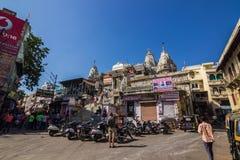 November 07, 2014: Hinduisk tempel i Udaipur, Indien Arkivfoto