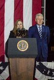 NOVEMBER 7, 2016, INDEPENDENCE HALL, PHIL., PA - PHILADELPHIA, PA - NOVEMBER 07: President Bill Clinton and Chelsea Clinton Mezvin Stock Image
