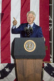 NOVEMBER 7, 2016, INDEPENDENCE HALL, PHIL., PA - PHILADELPHIA, PA - NOVEMBER 07: President Bill Clinton speaks the Night Before ra Royalty Free Stock Photos