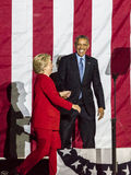 NOVEMBER 7, 2016, INDEPENDENCE HALL, PHIL., PA - President Obama and Democratic Presidential Candidate Hillary Clinton Hold Electi Royalty Free Stock Image