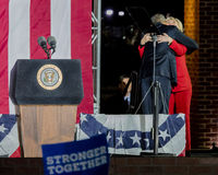 NOVEMBER 7, 2016, INDEPENDENCE HALL, PHIL., PA - President Obama and Democratic Presidential Candidate Hillary Clinton Hold Electi Stock Photo