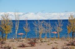 November Issyk Kul. November lake Issyk Kul, Kyrgyzstan Royalty Free Stock Images