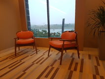 8. November 2016 Jen Puteri Harbour Hotel Johor Baru, Malaysia-Lobbyaufenthaltsraumdesign Stockfoto