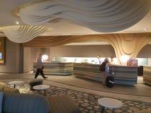 8. November 2016 Jen Puteri Harbour Hotel Johor Baru, Malaysia-Lobbyaufenthaltsraumdesign Lizenzfreies Stockfoto