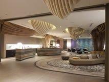 8. November 2016 Jen Puteri Harbour Hotel Johor Baru, Malaysia-Lobbyaufenthaltsraumdesign Stockbilder