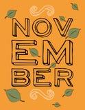 November Leaves Royalty Free Stock Photo