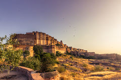 05 november, 2014: Mehrangarhfort in Jodhpur, India Stock Afbeeldingen