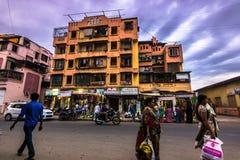 14 november, 2014: Mensen in de straten van Mumbai, India Royalty-vrije Stock Foto's