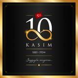 10 November, Mustafa Kemal Ataturk Death Day anniversary. 10 kasim vector illustration. (10 November, Mustafa Kemal Ataturk Death Day anniversary.) stock illustration