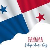 3. November Panama-Unabhängigkeitstaghintergrund lizenzfreie abbildung