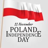 11 november, Poland Independence Day Patriotic Symbolic background Vector illustration. EPS10 royalty free illustration