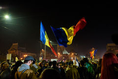 November 2015 protests in Bucharest Royalty Free Stock Photography