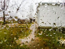 November-Regen, Hintergrund Stockfotografie