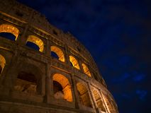 The Colosseum in the evening. November 23, 2017. Rome, Italy. The Colosseum in the evening Royalty Free Stock Photography