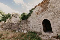 November 31, 2018. ruins of a medieval fortress in the city of Bar of Montenegro - Image