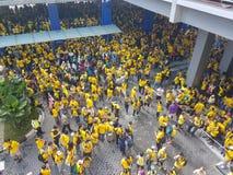 19. November 2016 Sammlung Kuala Lumpur Malaysiaâ-€™s Bersih 5: Protestierender wiegen die Kosten von Aktion unter einem repressi Lizenzfreie Stockbilder