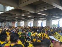19. November 2016 Sammlung Kuala Lumpur Malaysiaâ-€™s Bersih 5: Protestierender wiegen die Kosten von Aktion unter einem repressi Stockfotos