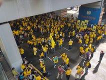 19. November 2016 Sammlung Kuala Lumpur Malaysiaâ-€™s Bersih 5: Protestierender wiegen die Kosten von Aktion unter einem repressi Stockfoto