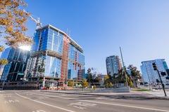 November 25, 2018 San Jose/CA/USA - ny kontorsbyggnad lurar royaltyfri fotografi