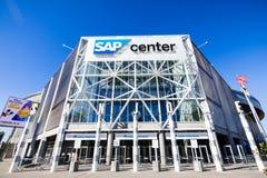 November 25, 2018 San Jose/clos för CA/USA - SAP mittbyggnad arkivfoton